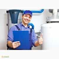 Установка проточного водонагревателя, установка накопительного водонагревателя цена