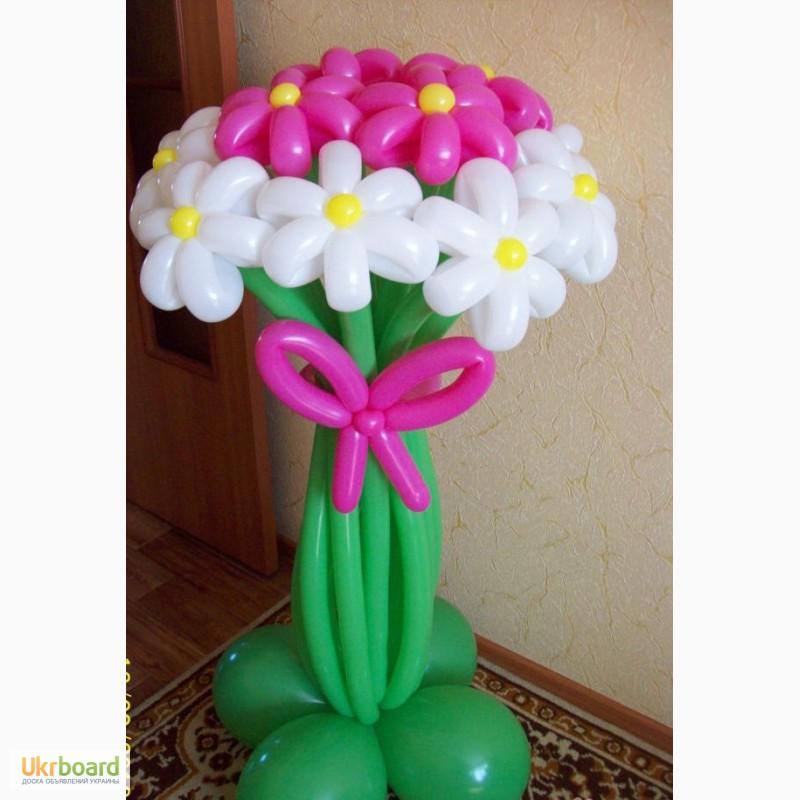 Как сделать букет с цветами из шаров 947