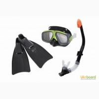 Набор для плавания маска, трубка, ласты Intex/Интекс: 41-45 размер