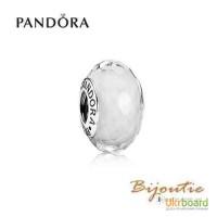 Оригинал PANDORA шарм белое мурано 791070