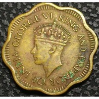 Цейлон 10 центов 1944 год СОСТОЯНИЕ