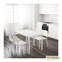 Замечательный белый кухонный стол от икеа