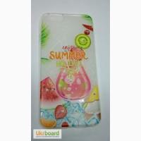 Чехол Cocktail series Яркий силиконовый бампер со стразами и различными летними коктейль