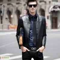 Чоловіча шкіряна куртка; мужская кожаная куртка