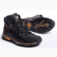 Кроссовки кожаные зимние CAT Walker Nubuck Black
