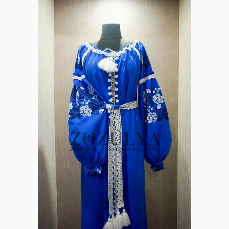 Продам плаття вишите жіноче довге 75ea18a877c28