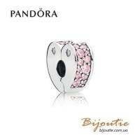 PANDORA Шарм-клипса ― розовая радуга любви 797020PCZ