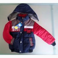 Стильная теплая демисезонная куртка на 2-3-4г - НОВЫЕ