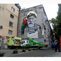 Роспись фасада, Мурал. Роспись фасада коттеджа в Киеве