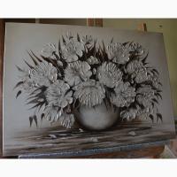 Картина маслом Піони 50х70