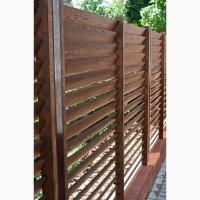 Забор жалюзи деревянный ( дерево или термодерево) сосна, яснень, дуб, граб