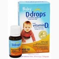 Ддробс жидкий витамин D3 для детей 400 ед 90 капель. Liquid Vitamin D3, Ddrops Витамин д3