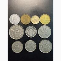 Подборка 10 монет. 1953-1997г. Испания