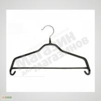 Плечики для одежды металлические черные обрезиненные