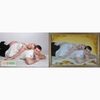 Портреты из янтаря (цена указана для размера 20х30 рамка деревянная)
