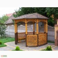 Предлагаем изготовление деревянных беседок на заказ г.Кривой Рог