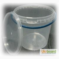 Продам ведра пластиковые, пищевые, прозрачные, 1, 1л