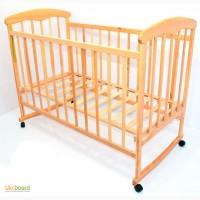 Кроватка деревянная Наталка 16, светлый ясень 10180