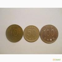 Монеты Южной Кореи (3 штуки)
