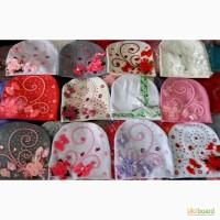 Детские трикотажные шапочки Цветы и камни девочкам от 3 лет до взрослых размеров