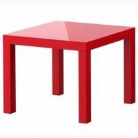 Модный красный (глянцевый) придиванный столик (новый) ИКЕА ЛАКК