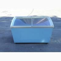 Бу морозильный ларь 307 л с стеклянной крышкой б/у оборудование для магазина ресторана