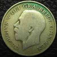 Англия 1 шиллинг 1922 год СЕРЕБРО