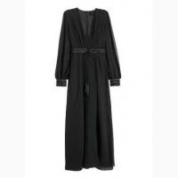 Платье вечернее шифоновое с бисером новое HM размер EVR 34 и 38 состав 100% polyester