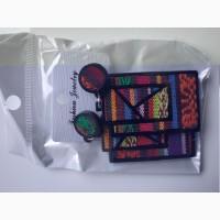Кульчики вишивка серьги сережки вишиванка вышивка