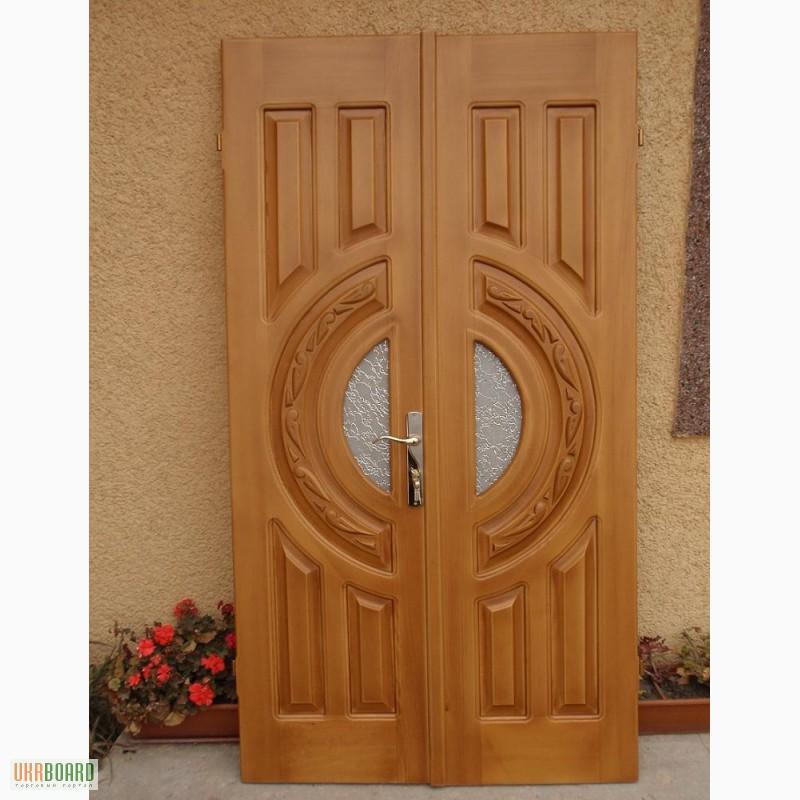 двері дерев'яні вхідні фото ціна