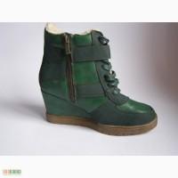 Женские зимние ботинки, утепленные. Сникерсы
