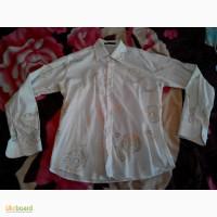 Продам белую рубашку с вставками
