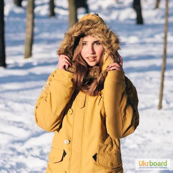 Женская куртка аляска Altitude W Parka Alpha Industries (желтая) abf45a86ecf40