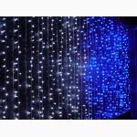 Световой дождь занавес 2 на1 метр, праздничное оформление зданий