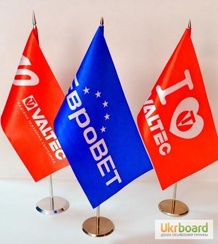 Фото 2. Изготовление флагов, флажков на палочке, автомобильных флажков