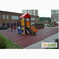 Резиновая плитка для детских площадок: толщина 1 - 5 см. Недорого