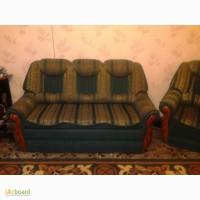 Продам диван-канапе и 2 кресла б/у