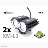 Велофара «Сова» SolarStorm X2 (2 x XM-L U2) 2200Lm + СЗУ + АКБ 6400mAh