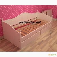 Подостковая кровать из дерева Домиан Люкс