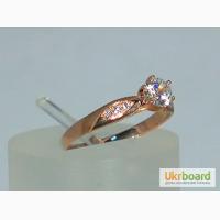 Элегантное золотое кольцо 585 со вставками циркония! Есть размеры