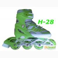 Ролики H-28 раздвижные размер 28-33, 34-38, 38-43 детские