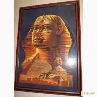 Египетский сфинкс, картина на папирусе