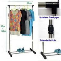 Телескопическая вешалка для одежды Single Pole Clothes Horse