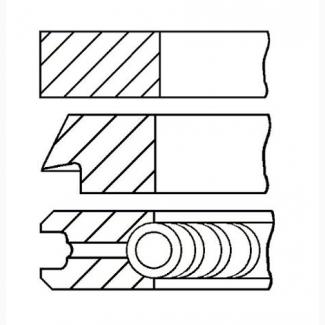 Поршневые кольца DOBLO 1.9 D JTD CDTI 0812400000 08-124000-00 71718185 GOETZE