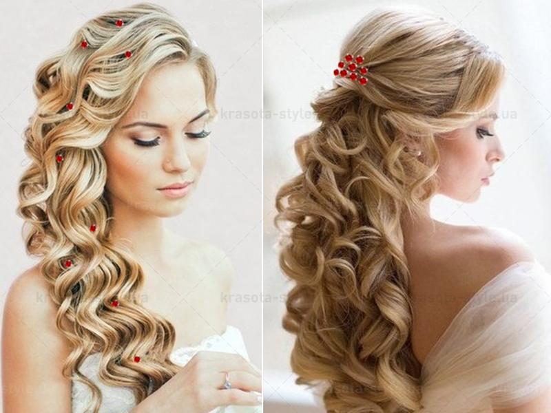 Модные прически для свадьбы на длинные волосы