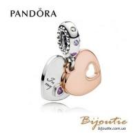 Pandora Шарм-подвеска ЧАСТЬ МОЕГО СЕРДЦА #787235CFP PANDORA Rose