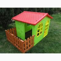 Детский домик с заборчиком + набор большой игровой Дантист