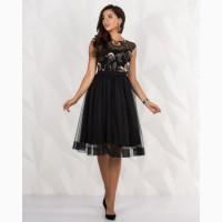 Нарядное чёрное короткое платье