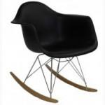 Кресло-качалка Тауэр R дизайнерские пластиковые на деревянных полозьях для дома Украина
