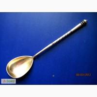 Ложка чайная Серебро позолота Дореволюционная 19 век проба 84